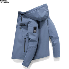 2021 Spring Autumn New Men'S National Geographic Fishing Jacket Windbreaker Hoodie Zipper Waterproof Jacket Fishing Clothes Top