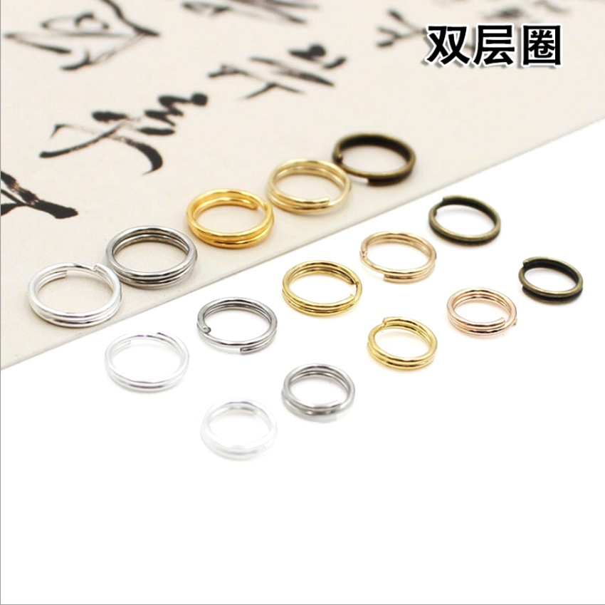 100pcs/lot 4 5 6 8 10mm Open Jump Rings Double Loops Gold Silver Color Split Rings Connectors For Jewelry Making Findings DiY
