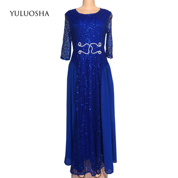 YULUOSHA Mother of The Bride Dress Lace Sequined A-Line Tulle Party Dress Women Elegant Dresses Mother Groom Vestido De Madrinha фото