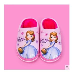 Image 2 - Nuevo Anna Elsa zapatos niñas zapatillas casa dibujos animados invierno Zapatos Niños Snow Queen 3d zapatillas de felpa alta calidad invierno cálido zapatos