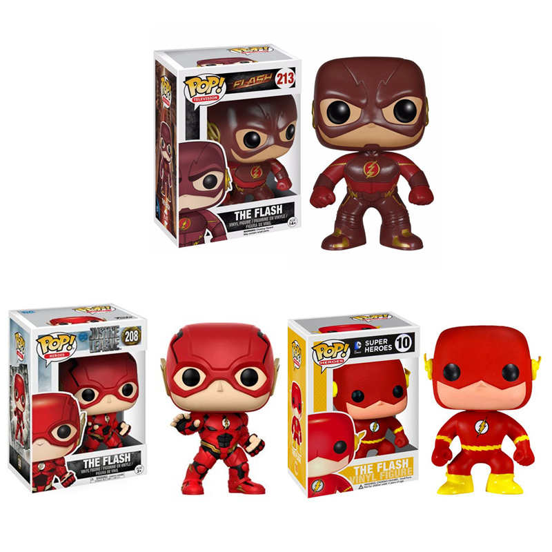 Funko POP Justice League Super Hero The Flash Model Figure Collection Model Toy Gifts