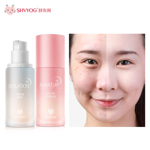 SHVYOG Cosmetics BB Cream CC Set Base Concealer Professional Covering Foundation Tone Isolation Face Makeup Whitening Sunscreen
