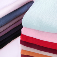 Pure Cotton Double Gauze Cloth Baby Cotton Yarn Fabric Clothes Dress Clothing Texture Crepe Cotton Linen Sewing Material