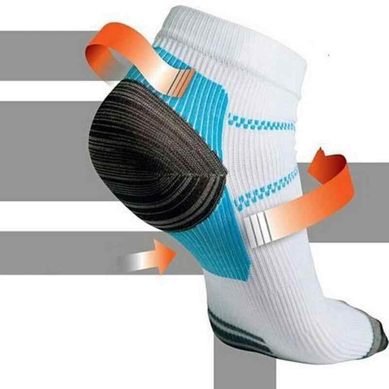 セットのための足底筋膜炎ヒール拍車痛みため 2 足圧縮靴下スポーツソックス