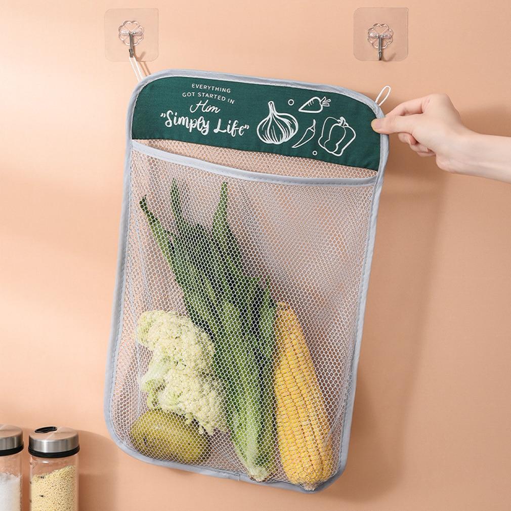 Сетка для защиты овощей сумка с большим ртом дизайн висит Тип разумные Ёмкость Кухня для хранения