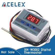 XH-W3002 W3002 Ac 110V-220V Dc 24V Dc 12V Led Digitale Thermoregulator Thermostaat Temperatuur Controller schakelaar Meter