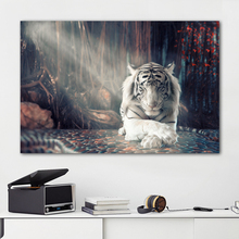 RELIABLI ART Canvas Painting Tiger Animal Pictures For Home Wall Art For Living Room Decoration Posters And Prints Unframed human organs anatomy chart posters and prints canvas art decorative wall pictures for living room home decor unframed painting