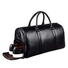 Free shipping genuine leather business men's travel bag popular in America