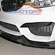 Настоящее углеродное волокно V стиль передний губ сплиттер спойлер для BMW F80 M3 F82 F83 M4 бампер B265
