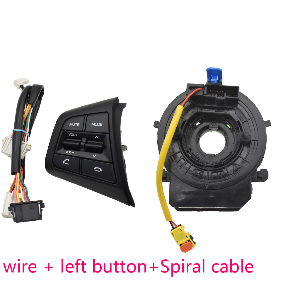 Image 2 - for Hyundai creta IX25 1.6L left Steering wheel button switch volume control button Bluetooth phone with wire and cable-in Car Switches & Relays from Automobiles & Motorcycles