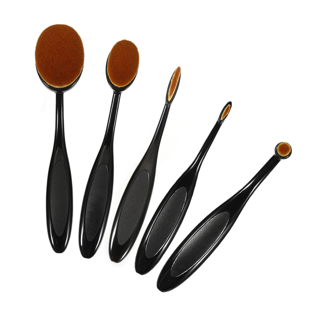 1Pcs Oval Shape Makeup Foundation Brushes Blushes Conceler Powder Toothbrush Cosmetic Beauty Tool Maquillaje image