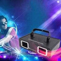 DMX Red Green Blue 2lens Laser Light Full color Line Scanner Cool Effects laser Projector DJ Dance Bar Disco Music Party lights
