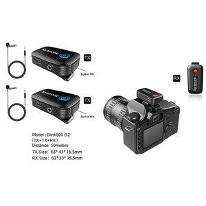 Image 3 - Saramonic 点滅 500 スタジオコンデンサーマイク 2.4 Ghz デュアルチャンネルワイヤレスラベリアマイクデジタル一眼レフ、ミラー、 iPhone
