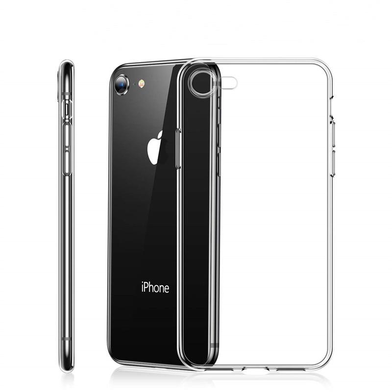 Fina Caso Claro Transparente Para iphone X XS MAX XR 6 7 8 6S Plus 5 se Caso de Telefone para o iphone 2019 11 pro max xr Xs caso max 6 s x