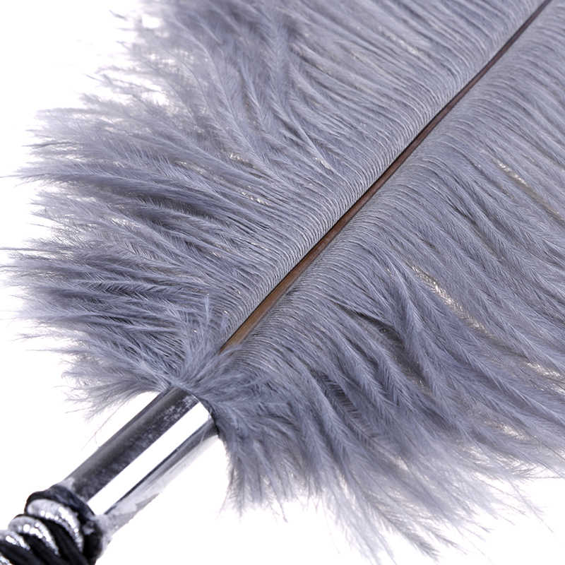 Erótico pluma látigo blanco fetiche de cuero para azotar paleta coqueteo sexo látigo lencería Sexy masaje romántico juguetes sexuales para adultos Woomen