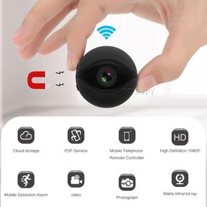 Image 1 - Мини камера 1080P с Wi Fi, HD видео в реальном времени, микро камера с секретным ночным видением, беспроводной IP пульт, маленькая Магнитная видеокамера, видеокамера, видеокамера Espia