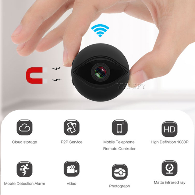 1080P Wifi Mini Camera HD Real Time Video Micro Cam Secret Night Vision Wireless IP Remote Small Magnetic Camcorder Camara Espia