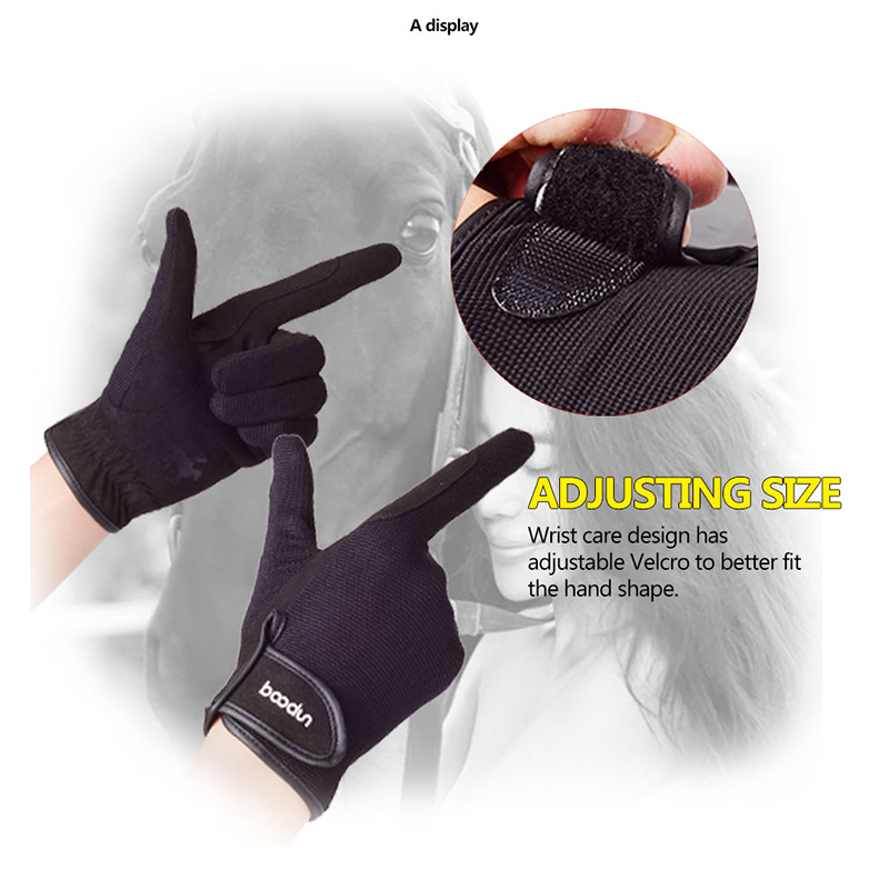 Horse Riding Glove Adjustable Horse Riding Equipment Anti-Slipping Durable Men Women Unisex Outdoor Sport Horse Riding Accessory