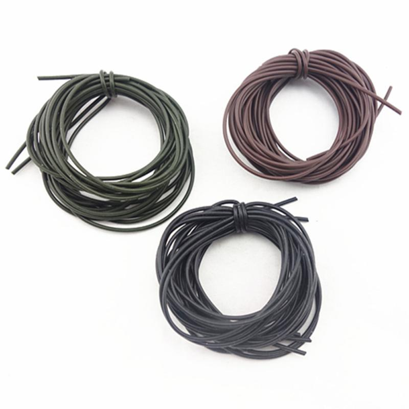 3Pcs/Set 1M Carp Fishing Gear DIY Silicone Soft Rigs Tube Sleeve Pretend Fishing Lines For Carp Fishing Tackles Accessories Tool