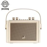 MUZEN Mate3 HIFI profesyonel Stereo Retro Bluetooth hoparlör açık su geçirmez kablosuz Subwoofer MW-M3