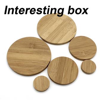 Okrągła tablica bambusowa okrągłe z drewna majsterkowanie ręcznie robiony materiał modelowy poduszka płyta dolna okrągła płyta tanie i dobre opinie
