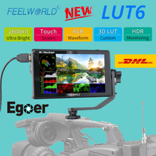 FEELWORLD LUT6 6 Inch 2600nits HDR 3D LUT Touch Screen on Camera Field DSLR Monitor with Waveform VectorScope for Youtube Live(China)
