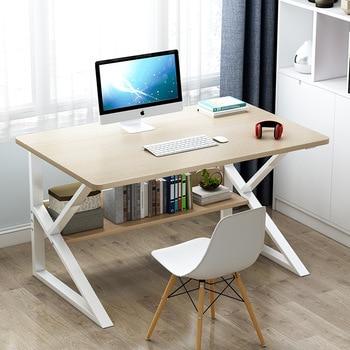 "Mrosaa 39"" Computer Laptop Desk Modern Style Computer Table with Bookshelf Wooden Standing Desks for Home Office Living Room"