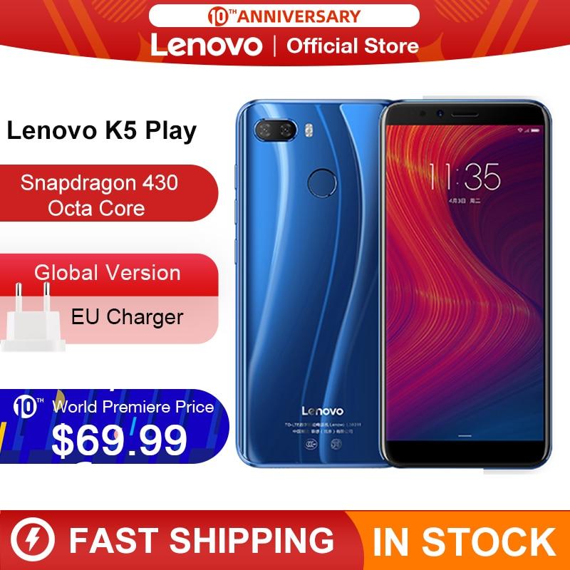 Stock Global Version Lenovo K5 Play 3GB 32GB Snapdragon 430 Octa Core Smartphone 1.4G 5.7