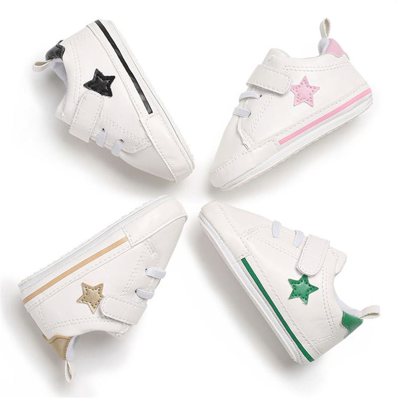 Newborn Baby Boy Girl Shoes Classical Canvas Rubber Anti-slip Sole Toddler Crib Shoes Causual Sneaker First Walkers Infant Shoes