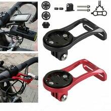 Bicicleta de estrada computador câmera montagem titular para fora da frente da bicicleta haste extensão suporte para garmin bryton cateye gopro luz