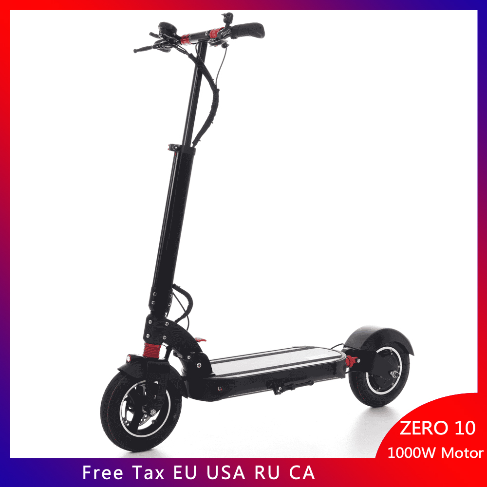 Newest Zero 10 electric scooter foldable 10 inch mini scooter lightness instead of walking scooter Universal scooter