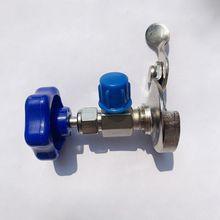Auto R134a czynnik chłodniczy AC może otworzyć otwieracz do butelek z zaworem z niebieska zakrętka AP tanie tanio LJHDFY CN (pochodzenie) Brass as show Klimatyzacja montaż 108g
