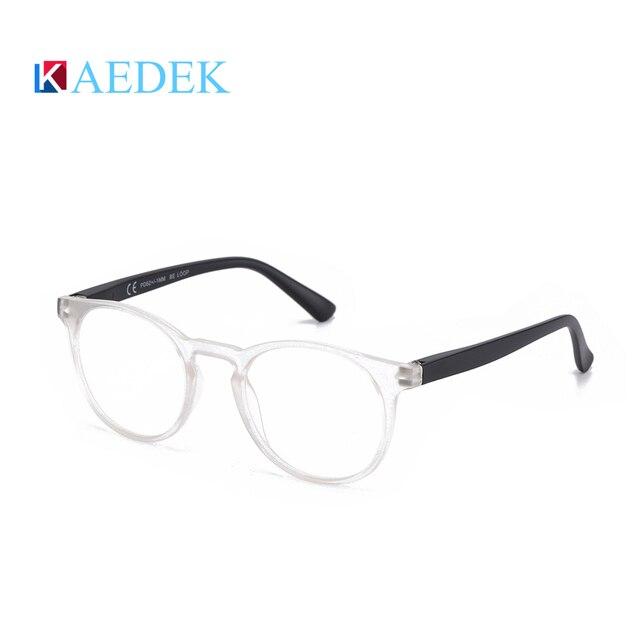 Фото kaedek дешевые очки для чтения женщин и мужчин черные круглые цена