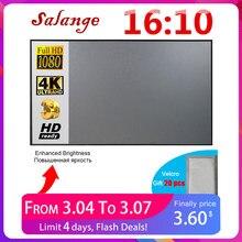 Salange projeksiyon perdesi 16:10 ,100 120 inç yansıtıcı kumaş bez projeksiyon ekranı YG300 XGIMI DLP LED Video Beamer