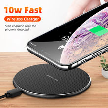 10W Qi Wireless Charger For iPhone 11 Pro XS Max X XR 8 Induction Fast Wireless Charging Pad For Samsung S20 Xiaomi mi 9