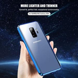 Image 5 - מזג זכוכית טלפון פרטיות מתכת מגנטי מקרה לסמסונג גלקסי S20 S9 בתוספת הערה 9 10 מגנט נגד מרגלים 360 מגן כיסוי