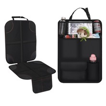 Quality Waterproof Car Seat Cover Protector Kick Mat Backseat Organizer Travel Accessories