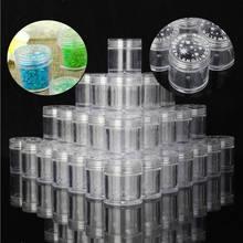 20/50 pces garrafa de boca garrafa de plástico frasco de cosméticos com tampas de parafuso recipientes vazios em pó caso da arte do prego jóias sto