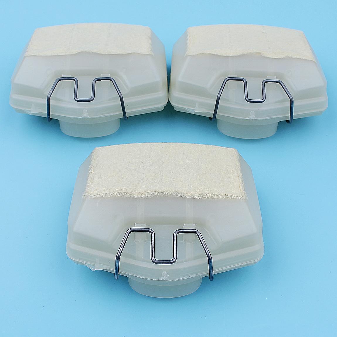 Комплект воздушных фильтров с пружиной для HUSQVARNA 365 362 371 372 372XP, запасные части для бензопилы 503 81 45 02, 503 73 54 01, 3 шт.