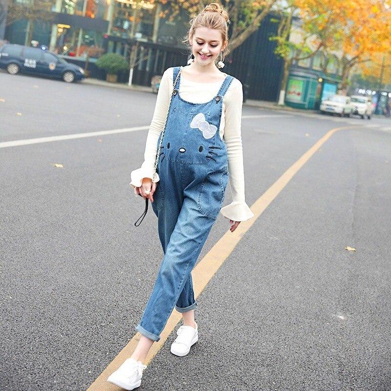 2019 High Quality Denim Maternity Jeans Overalls Loose Adjustable Bib Pants Clothes For Pregnant Women Pregnancy Jeans Jumpsuit