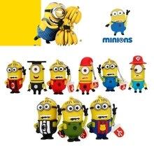 Cartoon Yellow Minions Series USB Flash Drive 32GB 16GB Pen 8GB High Speed pendrive 128GB usb Memory Stick 64gb Cute Gift