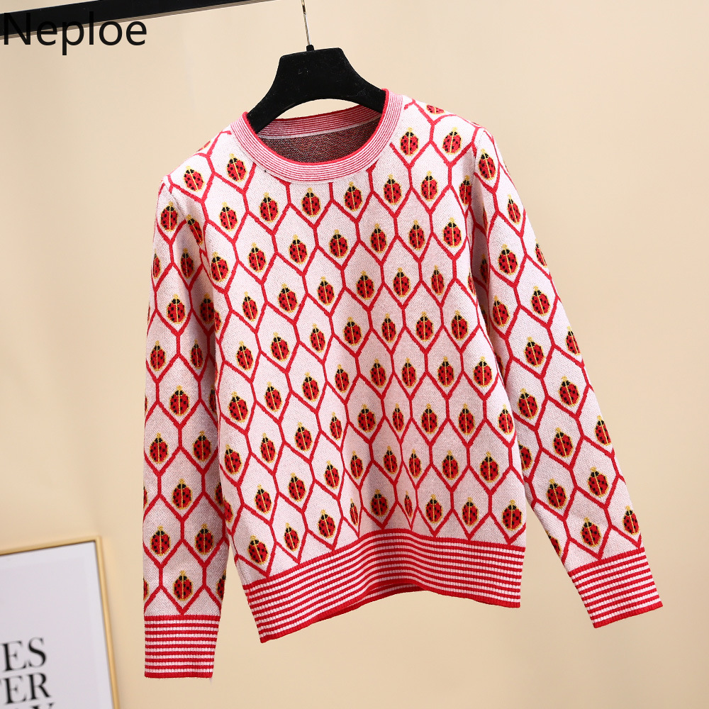 Neploe Pullover Tops Sweaters Christmas Clothing Women Jumpers Long-Sleeve Winter Warm