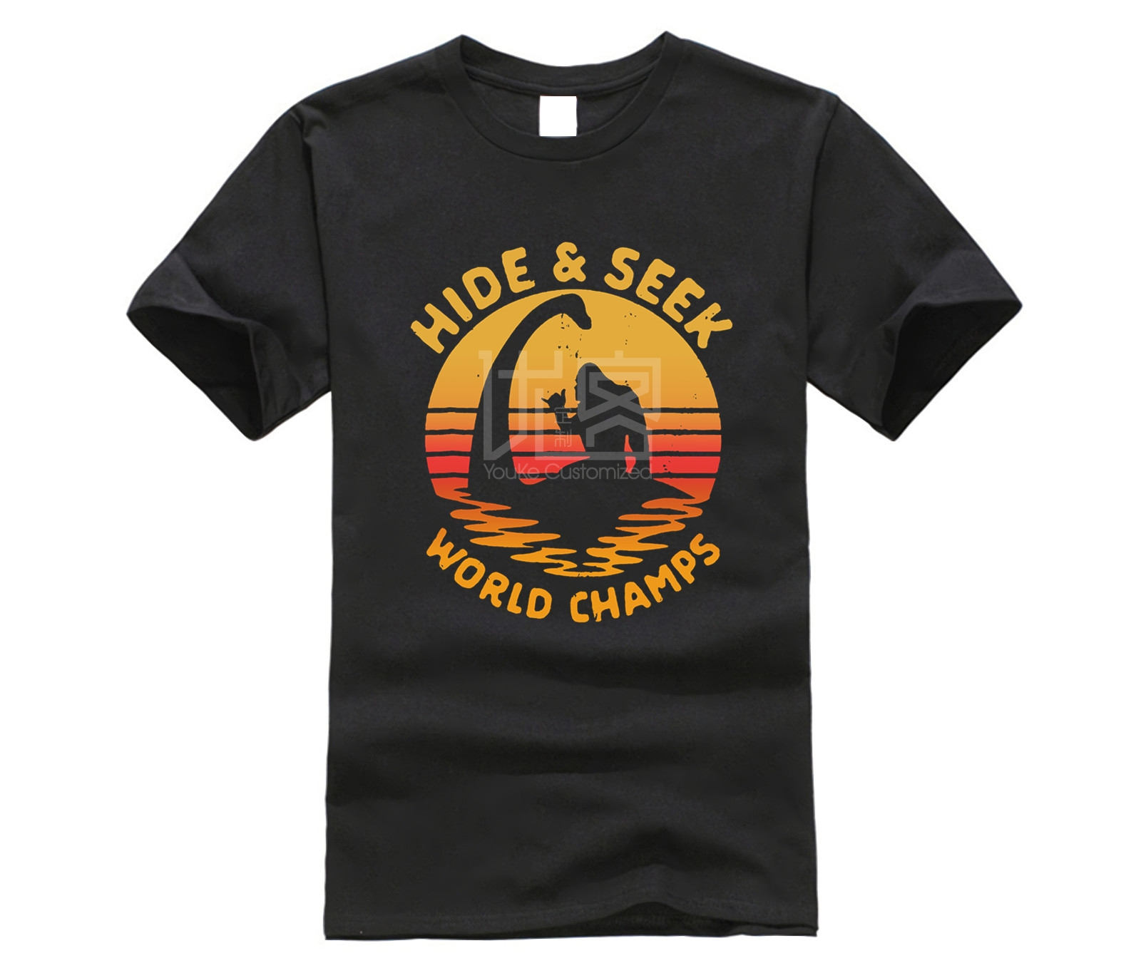 brand men shirt Funny Hide Seek Champs TShirt Bigfoot and Nessie image