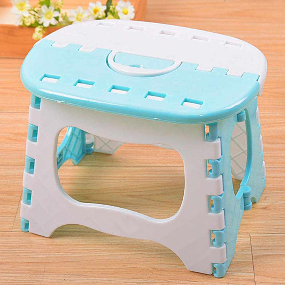 With Handle Seat Bathroom Use Lightweight Portable Anti Slip Strong Load Capacity Folding Stool Space Saving Children Adult