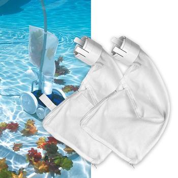 Multipurpose 2 Pcs Swimming Pool Filter Bag Pool Vacuum Head Bag All Purpose Polaris Bag Pool Cleaner Suction Machine Zipper Bag tanie i dobre opinie Other