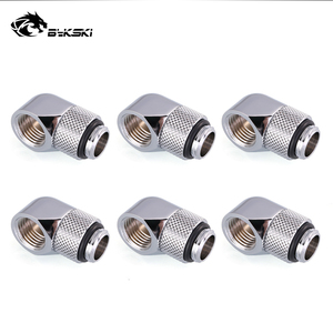 Image 2 - 6pcs/lot G1/4 90 Rotary Compression fitting 90 degree Rotary Fitting water cooling Adaptors Metal Connector