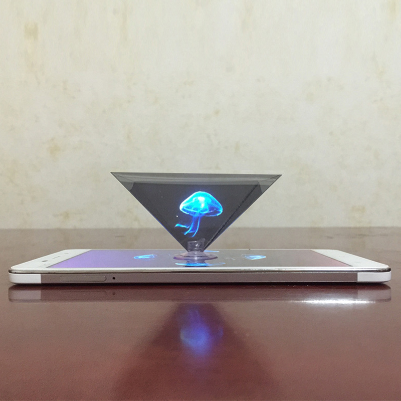 Mini 3D Hologram Pyramid Display Projector Video Stand Universal miniature hologram projector title=