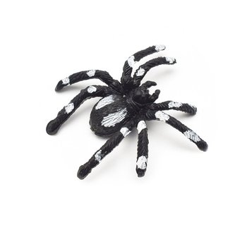 Simulation Spider Toy Trumpet Flower Spider Black Horror Scary Spider Model Fake Spider Whole Person Toy фото