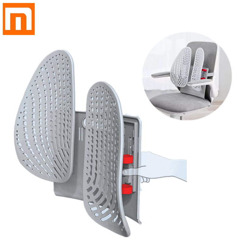 New Xiaomi Leband Adjustable Ergonomic Back Support One-key Lift Wrap-around Dynamic Comfortable Chair Back Pad