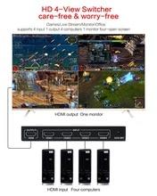 1080P 3D 4x1 HDMI multi visionneuse HDMI Quad écran en temps réel multi visionneuse HDMI séparateur sans couture avec contrôle IR